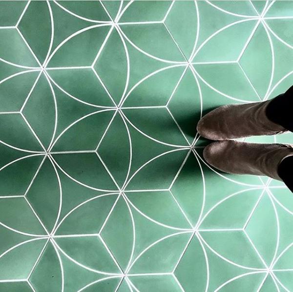 Marrakech Design Bow C Basil.  Edinburgh Tile Studio.