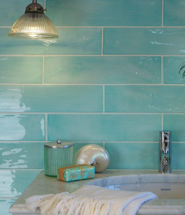 Ca' Pietra Kennet Porcelain Aqua. Edinburgh Tile Studio.
