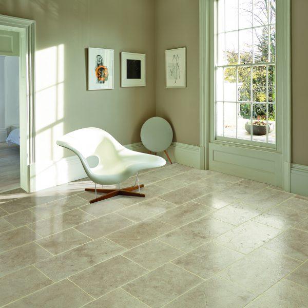 Marshalls Layton Coombe Limestone, floor detail, Edinburgh Tile Studio