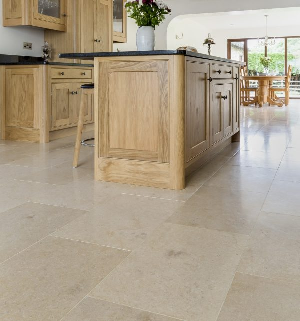 Ca' Pietra Neranjo Limestone, honed, interior shot, Edinburgh Tile Studio