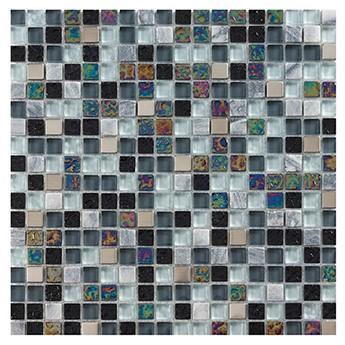Marshalls Artemis Glass Mosaic, close up, Edinburgh Tile Studio