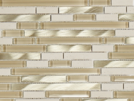 Marshalls Balletto White Large Stick Mosaic, swatch, Edinburgh Tile Studio