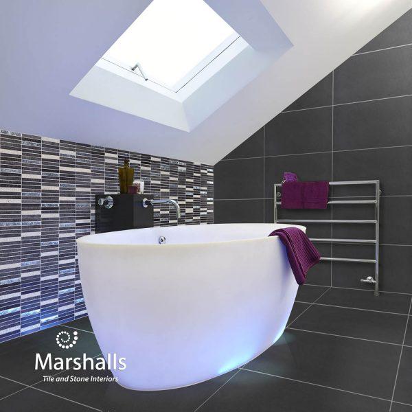 Marshalls Basalt Risa Noir, room shot, Edinburgh Tile Studio