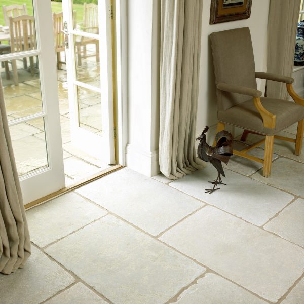 Marshalls Minster Limestone, floor detail, Edinburgh Tile Studio