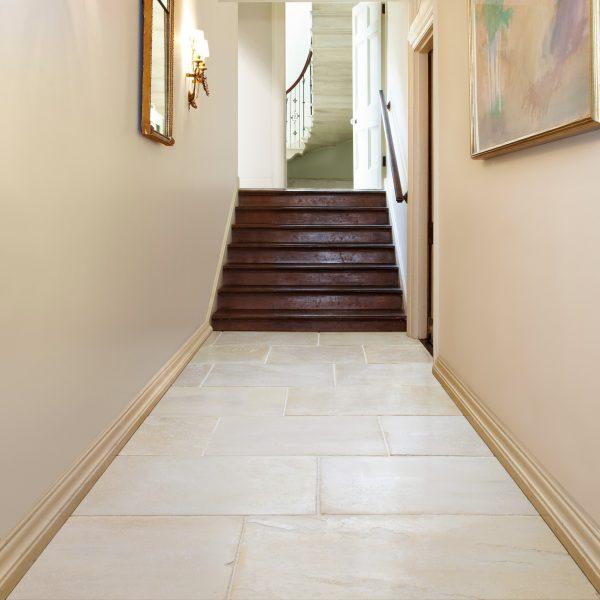Marshalls Winchester Limestone, hall shot, Edinburgh Tile Studio