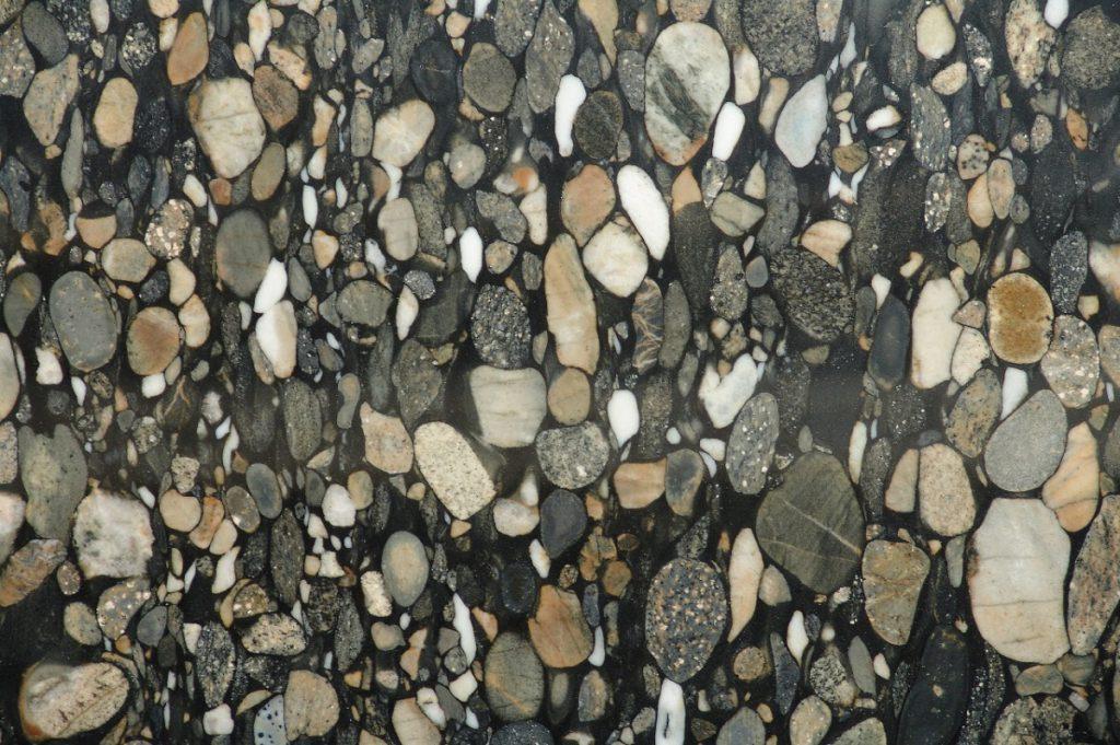 Nero Marinace granite swatch, Edinburgh Tile Studio