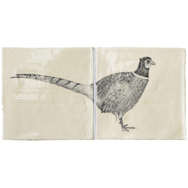Marlborough Farmland Birds, Pheasant panel A, Edinburgh Tile Studio
