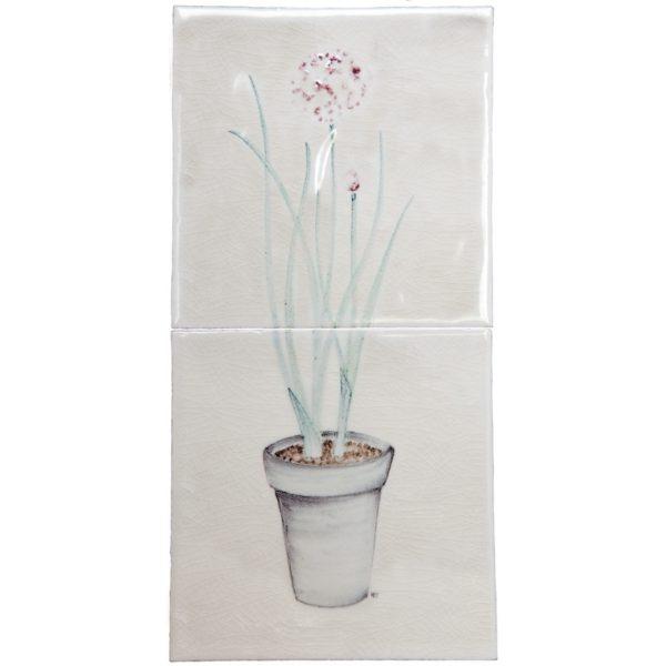 Marlborough Planters & Sprigs, Chives Planter, Edinburgh Tile Studio