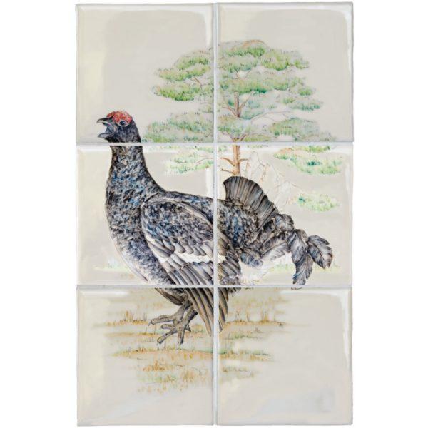 Marlborough British Birds, Grouse panel (colour), Edinburgh Tile Studio