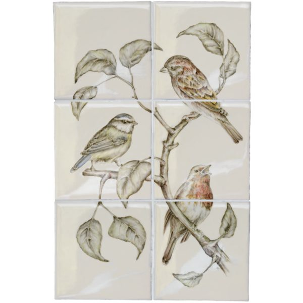 Marlborough British Birds, Birds (B) panel, Edinburgh Tile Studio