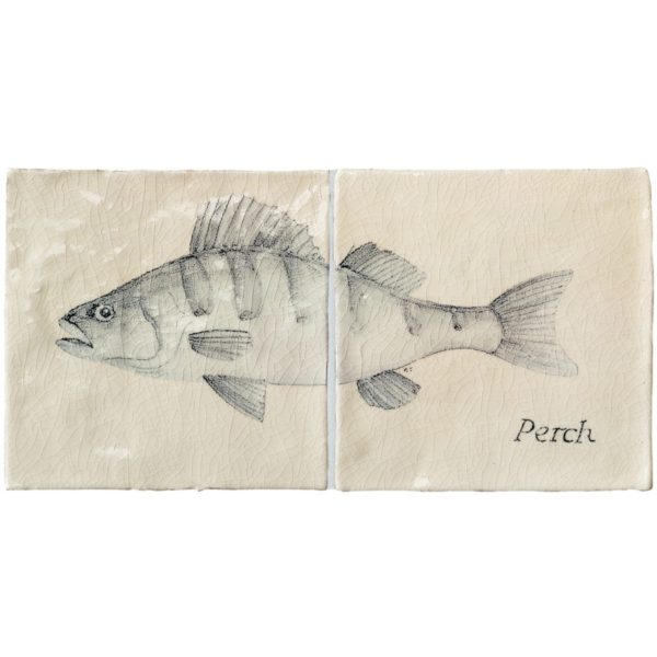Marlborough Fish, Perch panel, Edinburgh Tile Studio