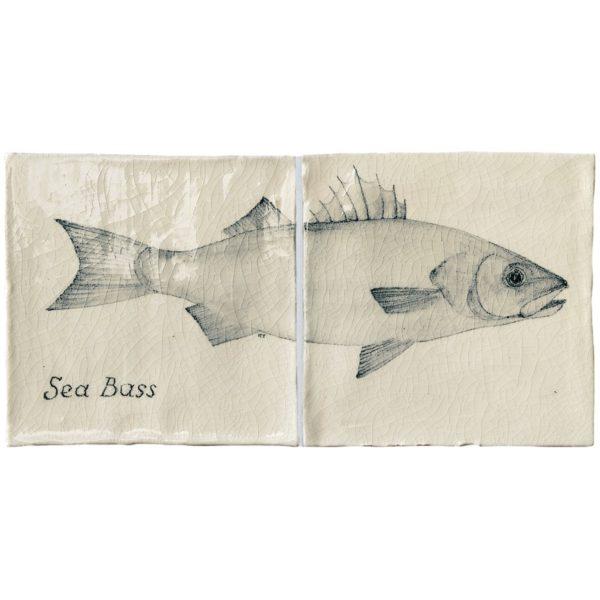 Marlborough Fish, Sea Bass panel, Edinburgh Tile Studio