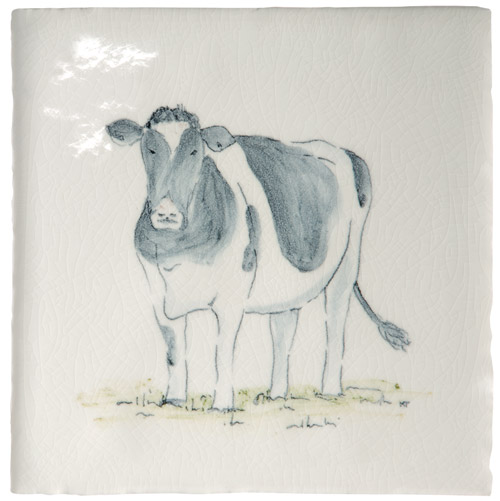 Marlborough Animals With Attitude, Fresian Cow, Edinburgh Tile Studio