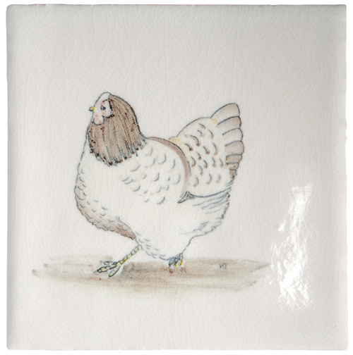 Marlborough Animals With Attitude, Brown Hen, Edinburgh Tile Studio