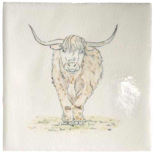 Marlborough Animals With Attitude, Highland Cow, Edinburgh Tile Studio