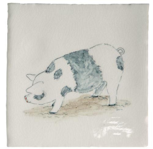 Marlborough Animals With Attitude, Saddleback Pig, Edinburgh Tile Studio