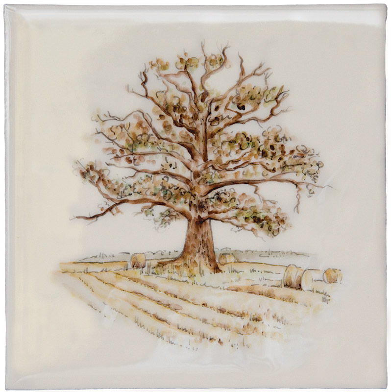 Marlborough British Countryside, Oak Tree, Edinburgh Tile Studio
