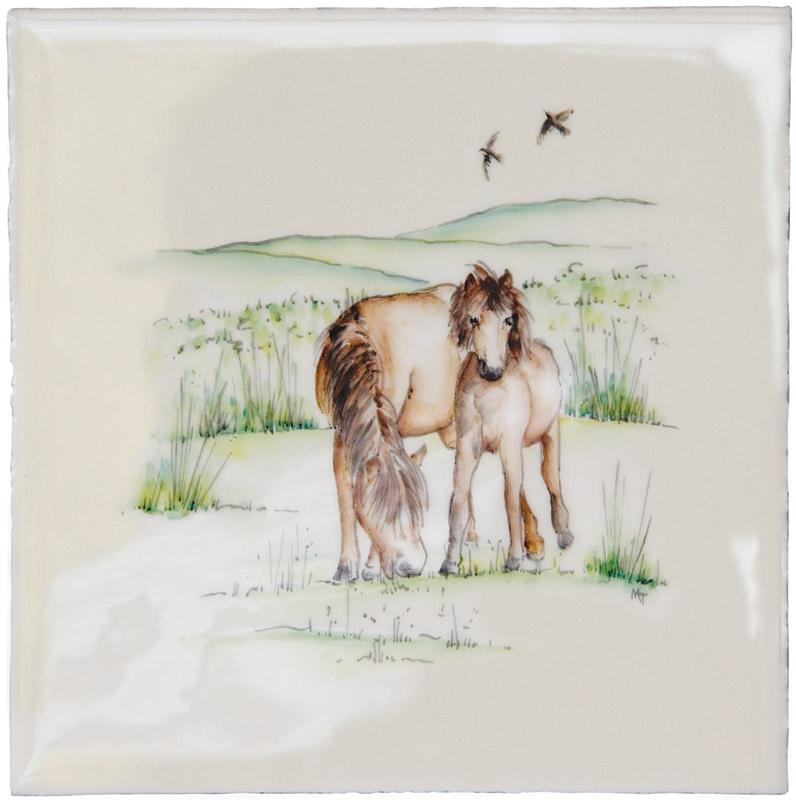 Marlborough British Countryside, Ponies, Edinburgh Tile Studio