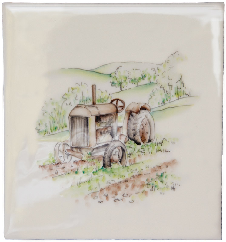 Marlborough British Countryside, Vintage Tractor, Edinburgh Tile Studio