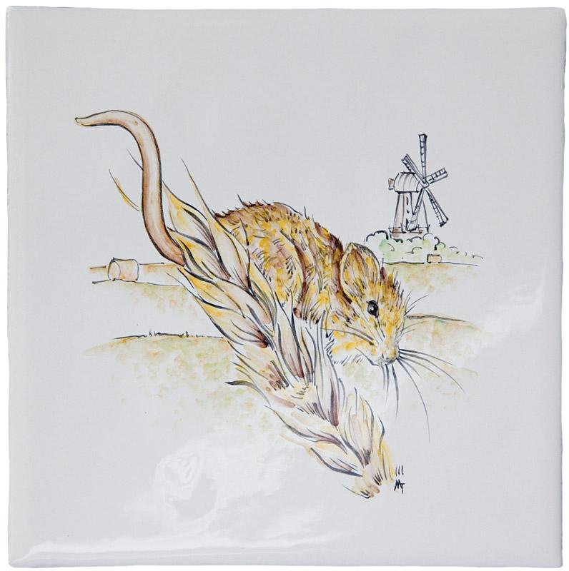 Marlborough British Wildlife, Harvest Mouse, Edinburgh Tile Studio