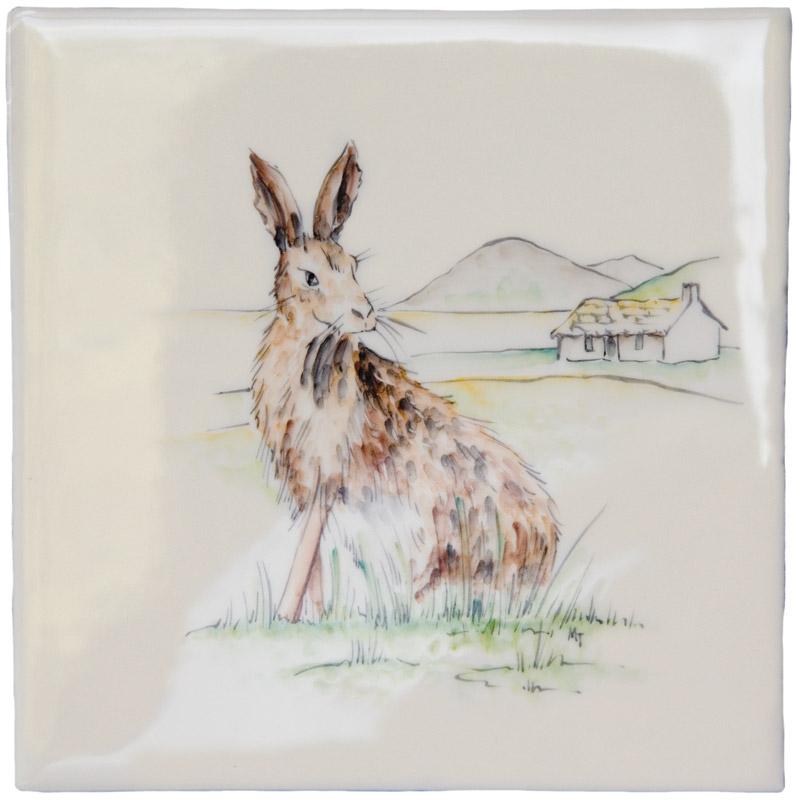 Marlborough British Wildlife, Hare, Edinburgh Tile Studio
