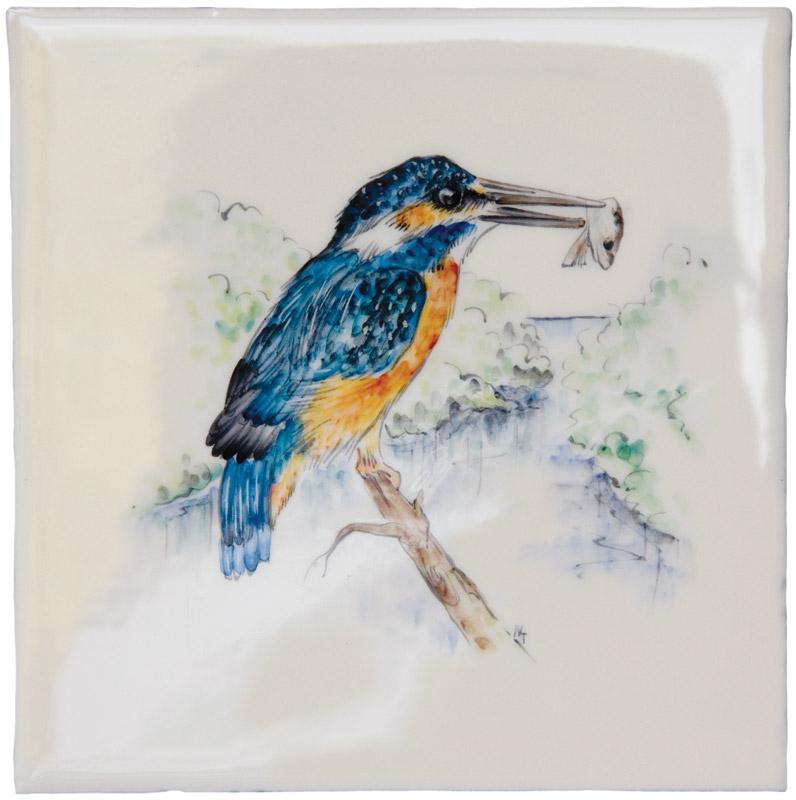 Marlborough British Wildlife, Kingfisher, Edinburgh Tile Studio