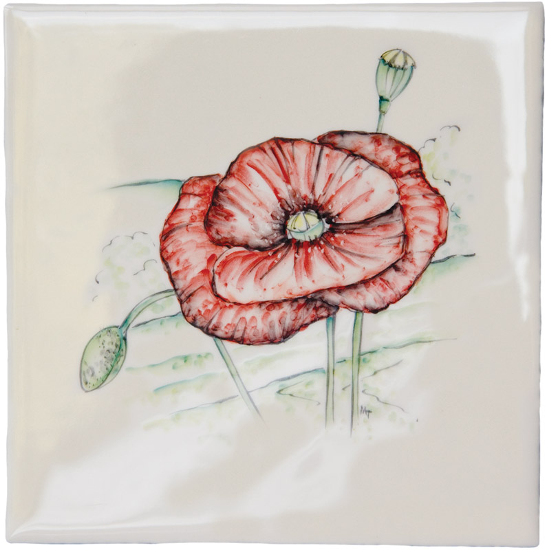 Marlborough British Wildlife, Poppy, Edinburgh Tile Studio