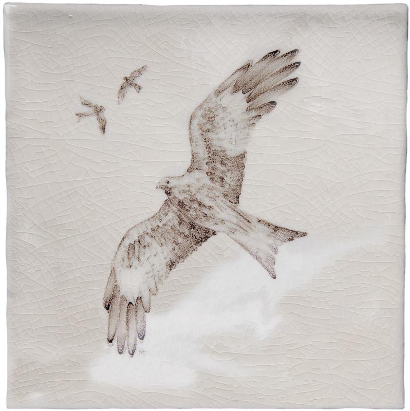 Marlborough British Wildlife, Red Kite, Edinburgh Tile Studio