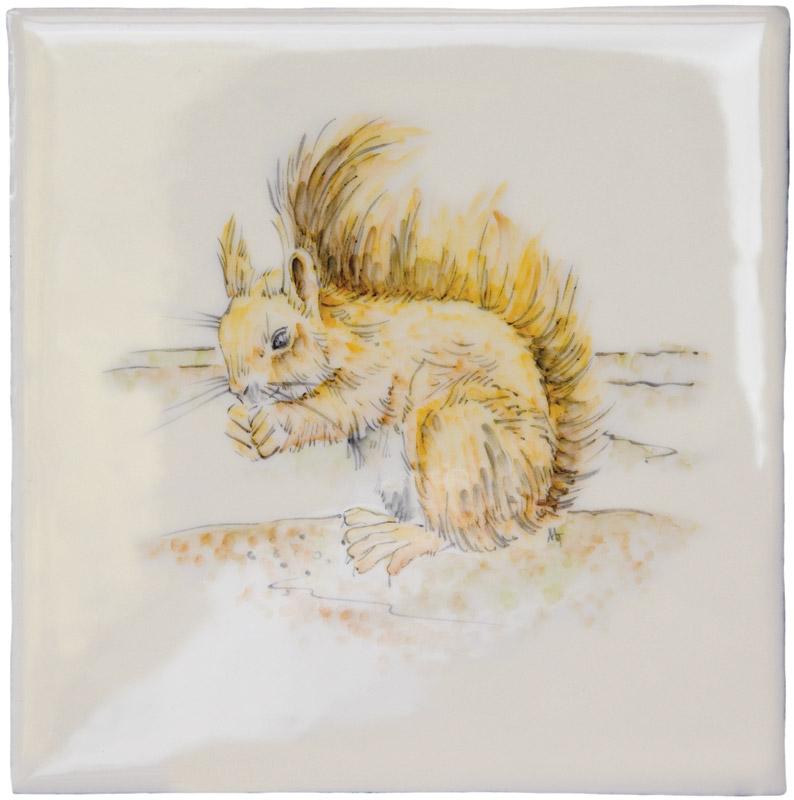 Marlborough British Wildlife, Squirrel, Edinburgh Tile Studio