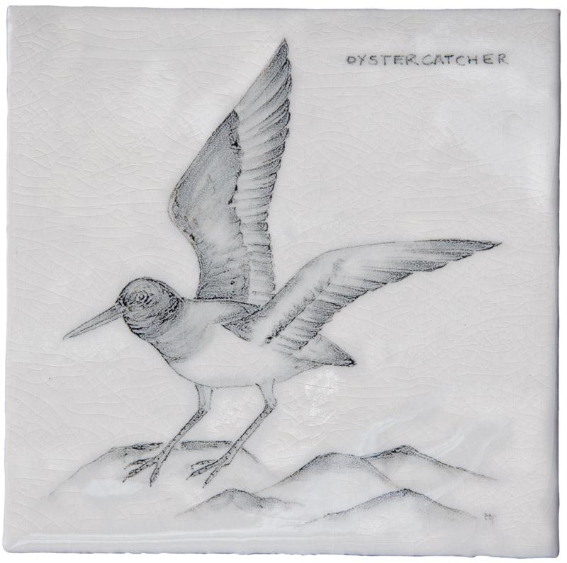Marlborough Coastal & Moorlands Birds, Oyster Catcher, Edinburgh Tile Studio