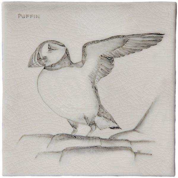 Marlborough Coastal & Moorlands Birds, Puffin, Edinburgh Tile Studio