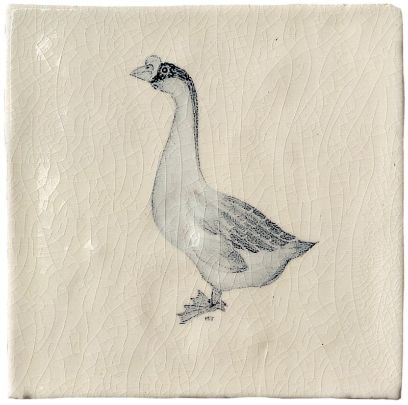Marlborough Farmland Birds, design 4, Edinburgh Tile Studio