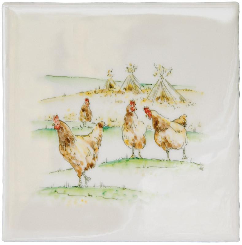 Marlborough Farmland Scenes, Chicken Run, Edinburgh Tile Studio