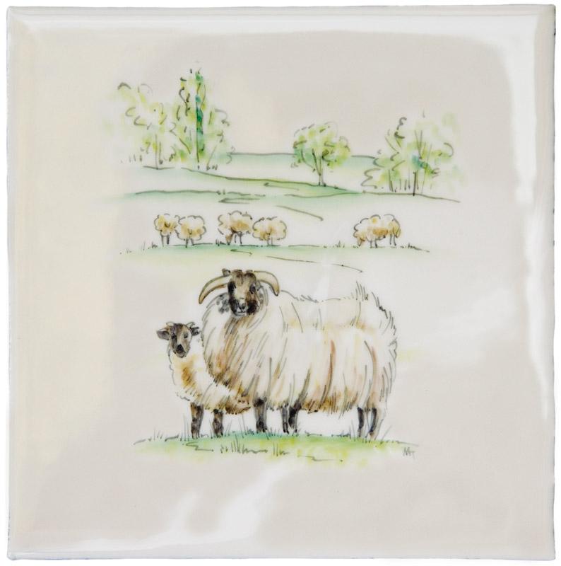 Marlborough Farmland Scenes, Follow Like Sheep, Edinburgh Tile Studio