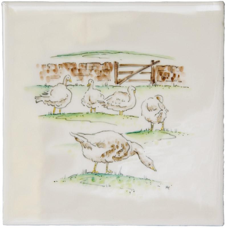 Marlborough Farmland Scenes, Geese, Edinburgh Tile Studio