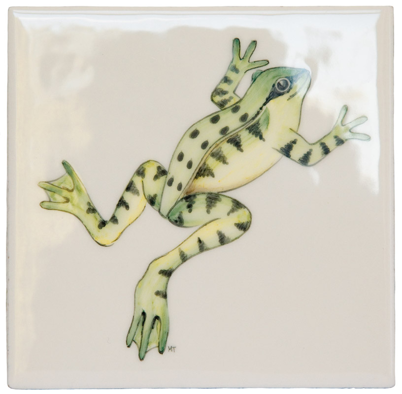 Marlborough Meadow / Frogs, Frog 2, Edinburgh Tile Studio