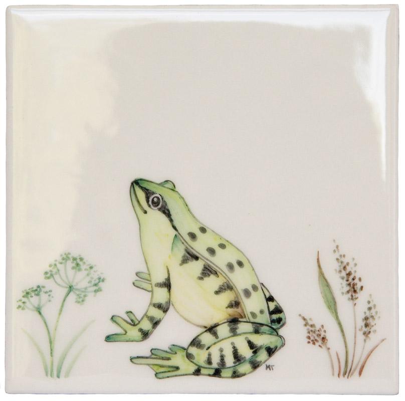 Marlborough Meadow / Frogs, Frog 4, Edinburgh Tile Studio