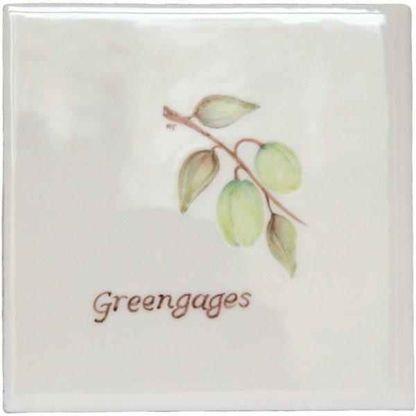 Marlborough Fruit, Greengages, Edinburgh Tile Studio