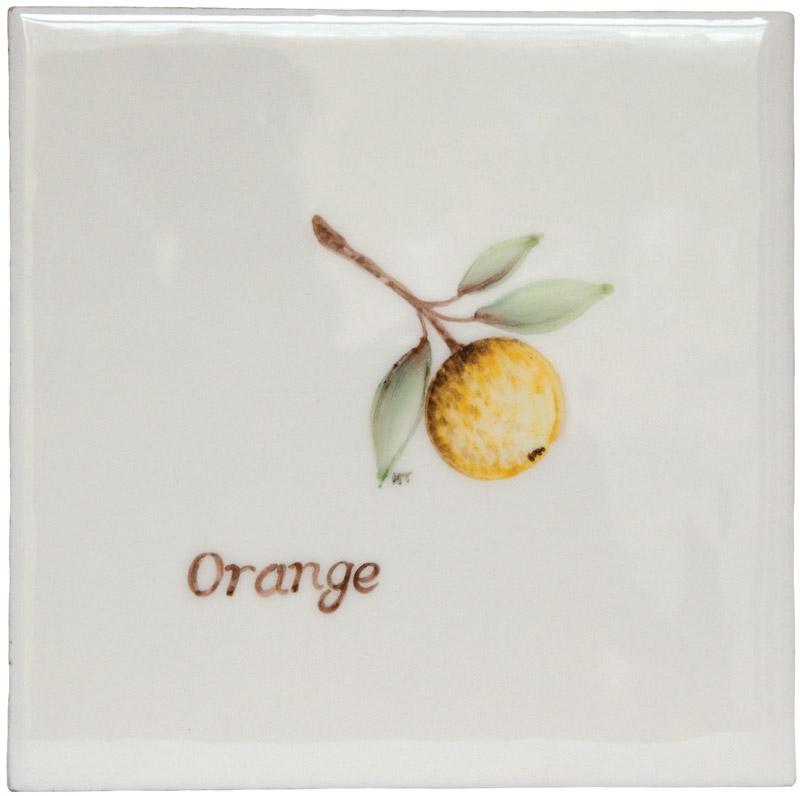 Marlborough Fruit, Orange, Edinburgh Tile Studio
