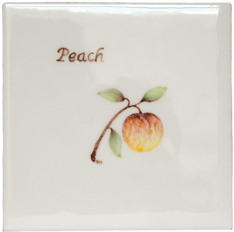 Marlborough Fruit, Peach, Edinburgh Tile Studio