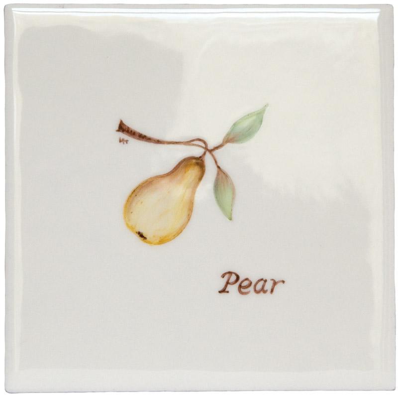 Marlborough Fruit, Pear, Edinburgh Tile Studio