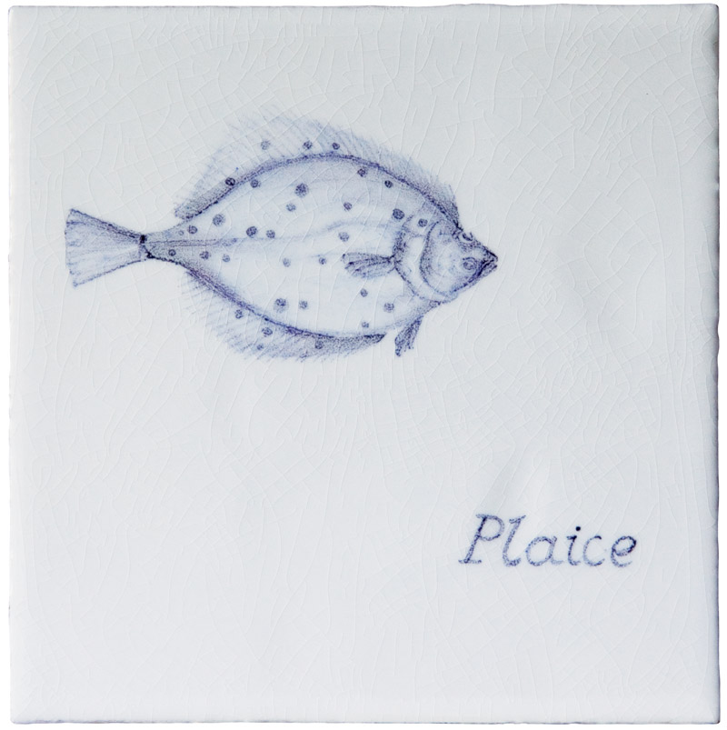 Marlborough Fish, Plaice, Edinburgh Tile Studio