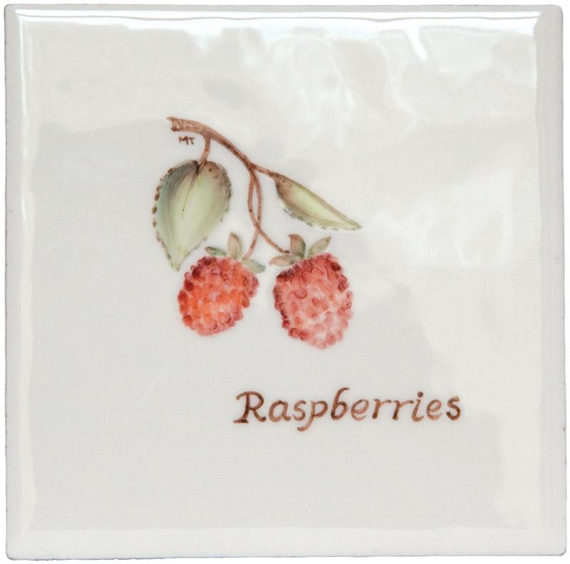 Marlborough Fruit, Raspberries, Edinburgh Tile Studio