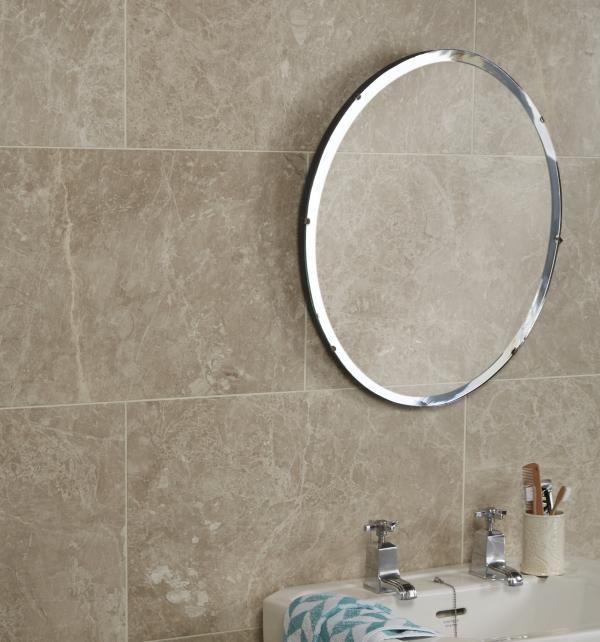 Ca' Pietra Angora Marble, honed, mirror shot, Edinburgh Tile Studio