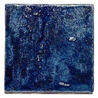 New Terracotta Deep Blue Oxide Explosion Colour, Edinburgh Tile Studio