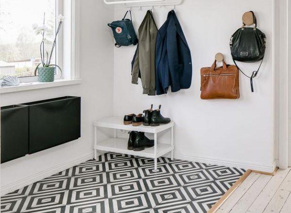 Marrakech Design Herringbone Charcoal/Pure white. Edinburgh Tile Studio.