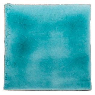 New Terracotta Paradise Turquoise Basic Colour, Edinburgh Tile Studio