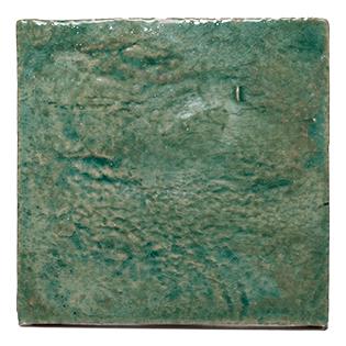 New Terracotta Soft Emerald Oxide Explosion Colour, Edinburgh Tile Studio