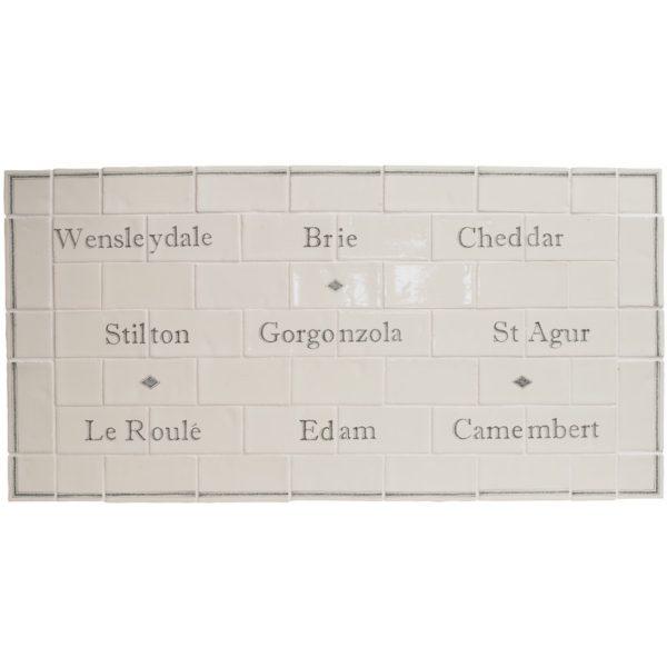 Marlborough Cheese Board Panel, Edinburgh Tile Studio