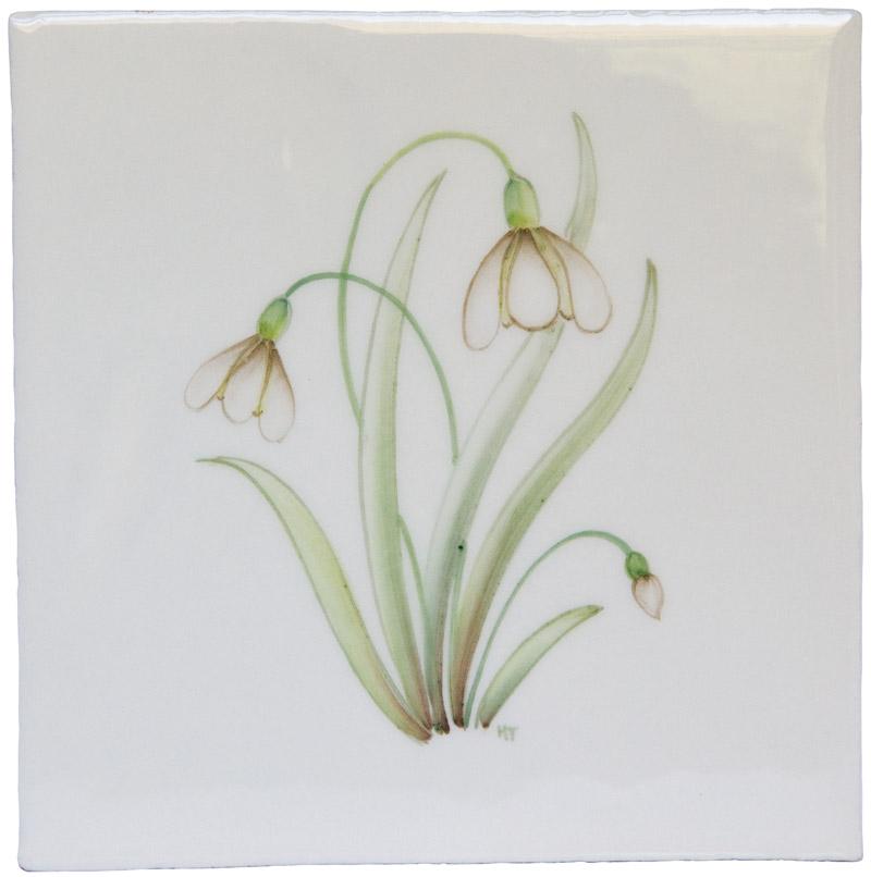 Marlborough Spring Flowers, Snowdrop, Edinburgh Tile Studio